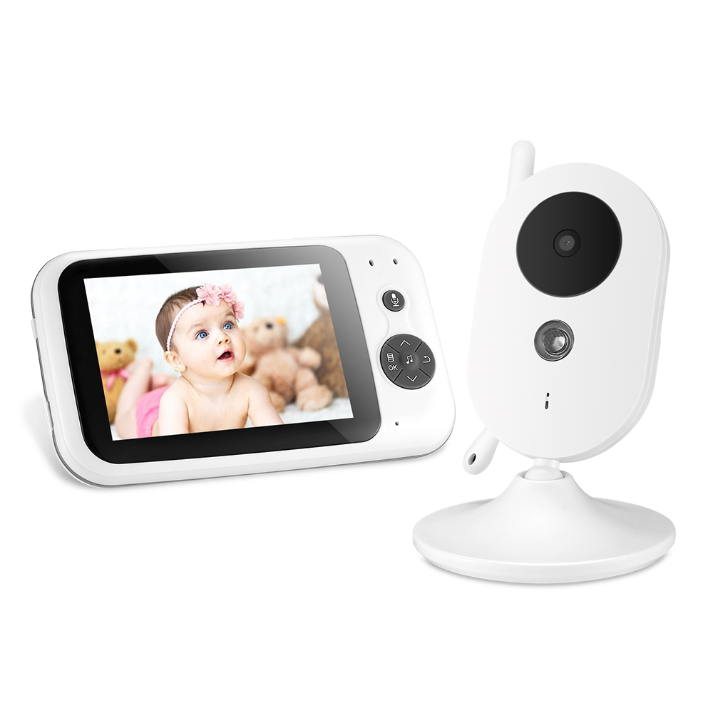 3.5 Inch LCD Screen Wireless Video Baby Monitor Digital Sleep Monitoring Night Vision Temperature Sensor Music Player 8 Language3.5 Inch LCD Screen Wireless Video Baby Monitor Digital Sleep Monitoring Night Vision Temperature Sensor Music Player 8 Language