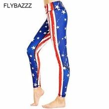 Women 3D Printing High Waist Energy Yoga Pants Leggings Sport Fitness Trousers Plus Size National Flag USA UK Streetwear