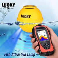 Glück Tragbare Drahtlose Angeln Finder Sonar Fisch finder LCD Bildschirm Aufladbare High Definition Fishfinder für eis angeln
