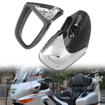 Chrome Motorcycle Rearview Side Mirrors Ftis For BMW K1200 K1200LT K1200M 1999-2008 00 01 02 03 04 05 06 07