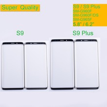 цена на 10Pcs/lot For Samsung Galaxy S9 G960 G960F SM-G960F S9 Plus G965F SM-G965F Touch Screen Front Glass Panel Outer Glass Lens