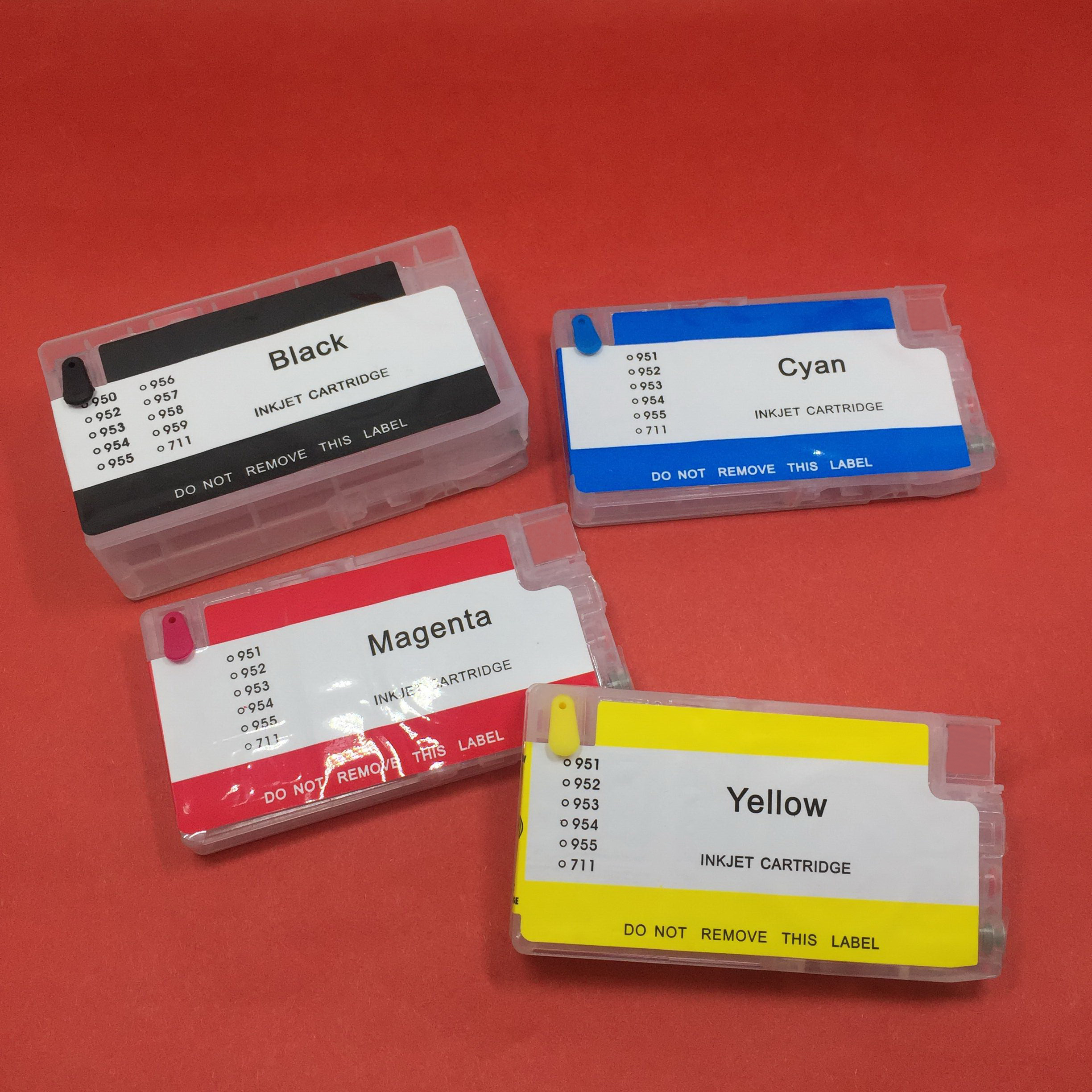 YOTAT (No chip) <font><b>Refillable</b></font> Ink Cartridge for HP952 <font><b>HP</b></font> 952 HP953 <font><b>HP</b></font> <font><b>953</b></font> HP954 <font><b>HP</b></font> 954 955 for Officejet Pro 8730 8740 8735 8715... image