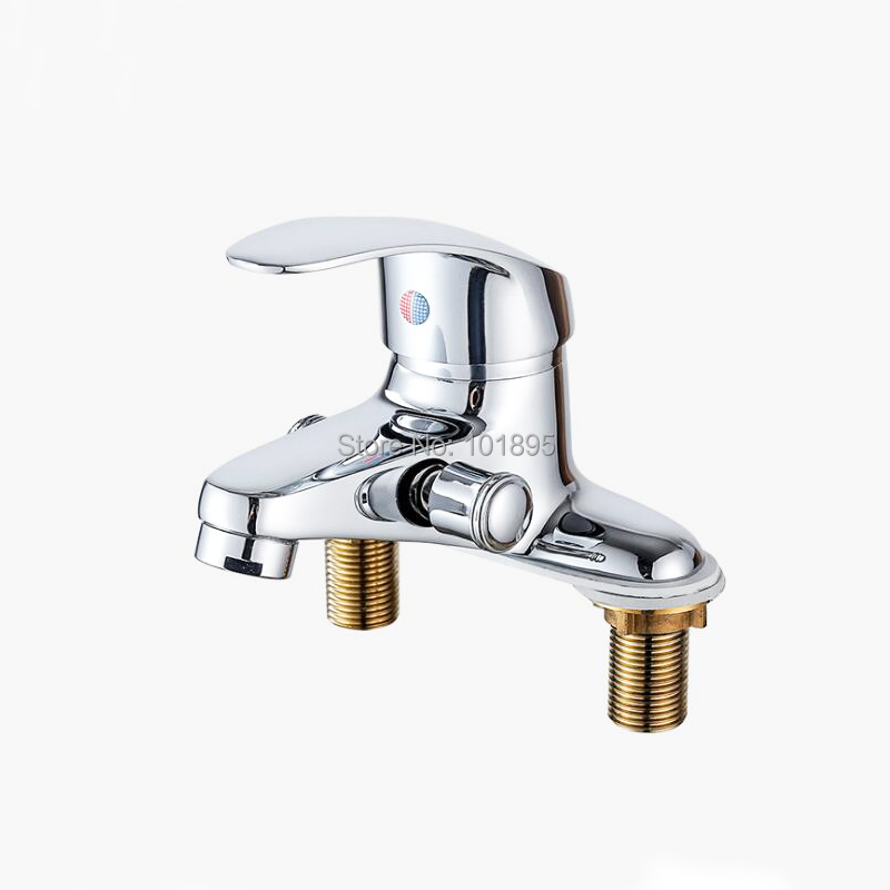 Chrome Plated Brass Material Cold & Hot Water Basin FaucetChrome Plated Brass Material Cold & Hot Water Basin Faucet