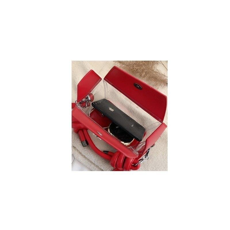Alta Nero Rosa Pvc Del Borsa Ttou Capacità Catena il Femminile Signora colore 2019 Donne rosso Beige Sac Tracolla cachi In Di Gelatina Con Sacchetto Trasparente Spalla Delle Della FFgzwq7