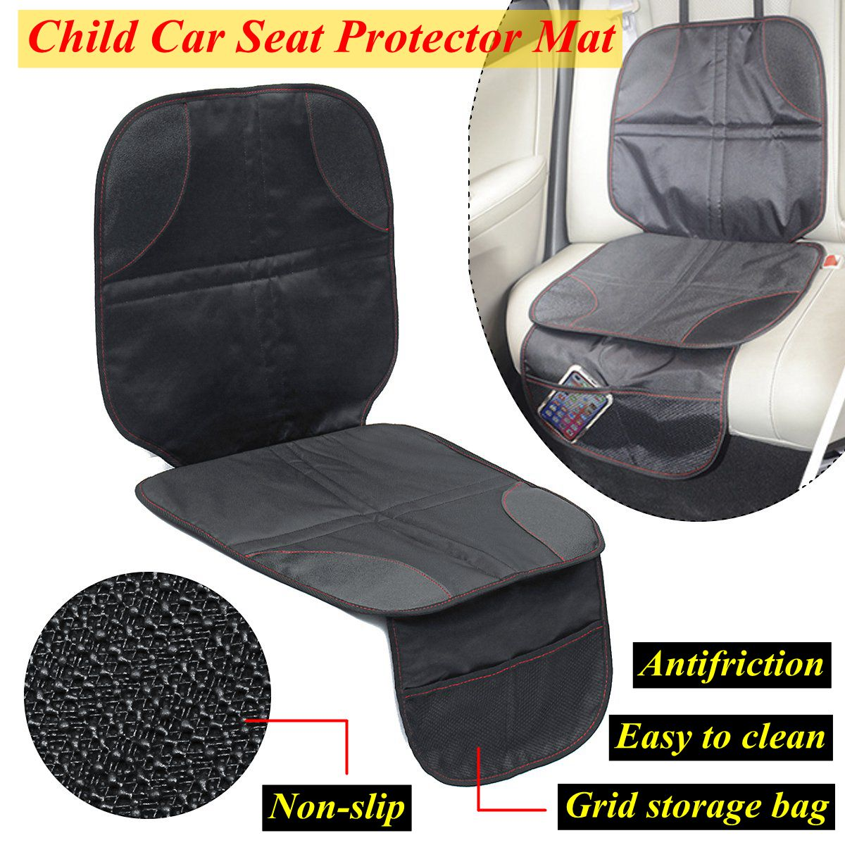 Us 10 14 36 Off New Infant Baby Child Easy Clean Anti Slip Car Seat Protector Mat Cushion Cover W Storage Function For Kids Children Universal In
