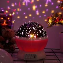 Doxa LED Rotating Night Light Projector Spin Starry Moon Sky Star Master Children Kids Baby Nursery Sleep Romantic USB Lamp