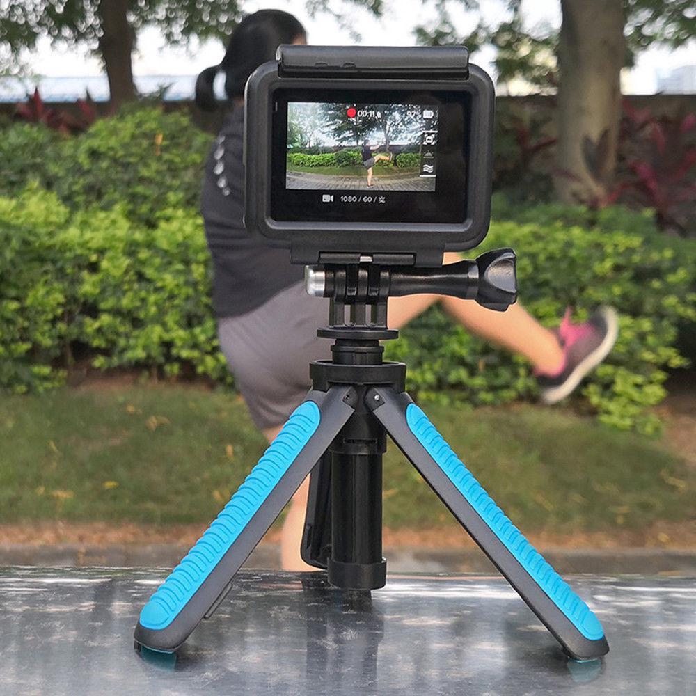 Mini tripé portátil extensão pólo handheld auto-pólo shorty ir pro flexível monopod vara montagem para câmeras de ação gopro