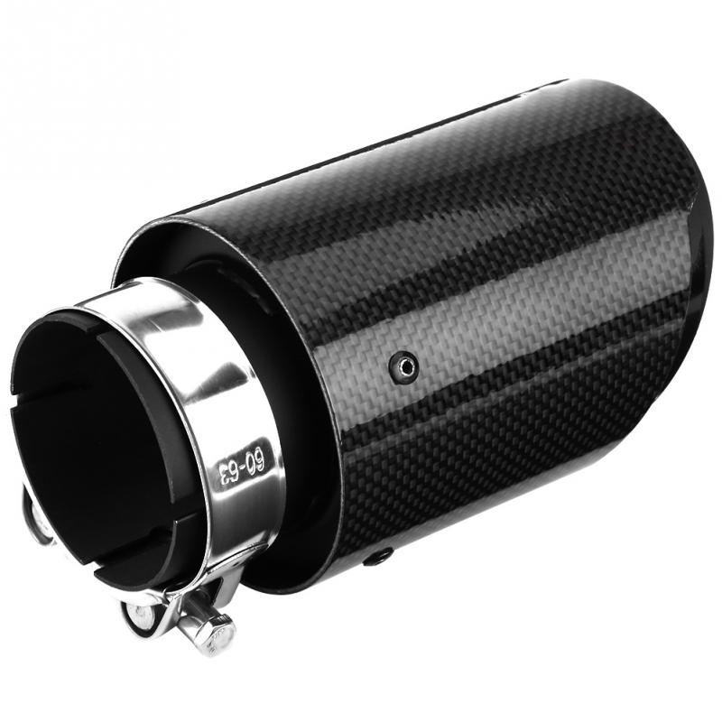 Exhaust Tail Pipe Universal Carbon Fiber Style Car Exhaust Pipe Muffler End Tip Tailpipe for 63mm 89mm