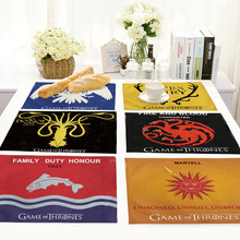 Нордическая Домашняя игра престолов шаблон стол коврик прямоугольная Ткань Искусство Коврик для обеденного стола кухонные украшения Аксессуары