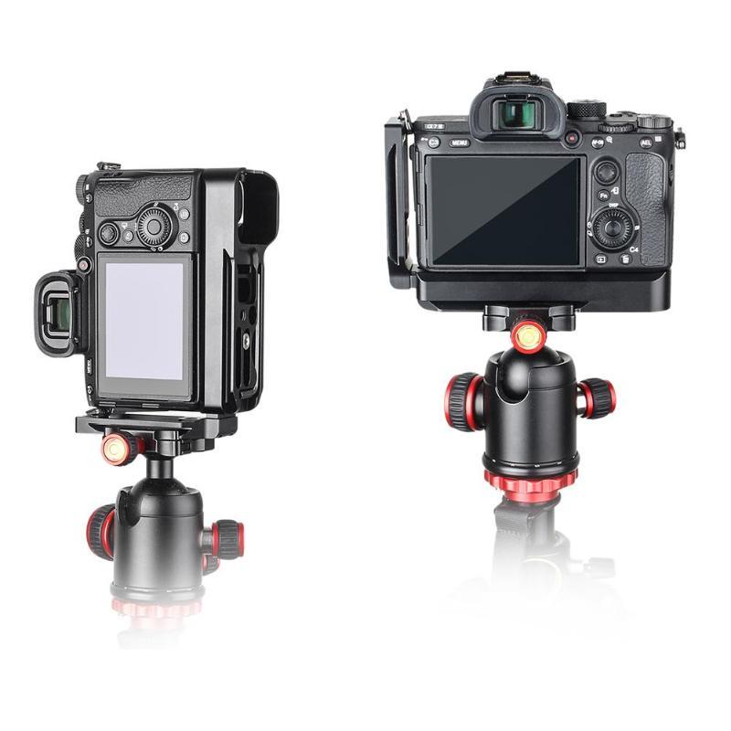 Alliage d'aluminium allot caméra coulissante Type L plaque de base à dégagement rapide plaque latérale pour accessoires Sony A7M3/A7R3/A9/A7III