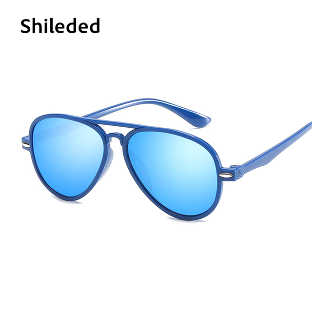 abe6ab0c1f Baby Sunglasses Kids Sunglasses For Boys Blue Aviator Sunglasses Fashion  Style 100% UV Protection