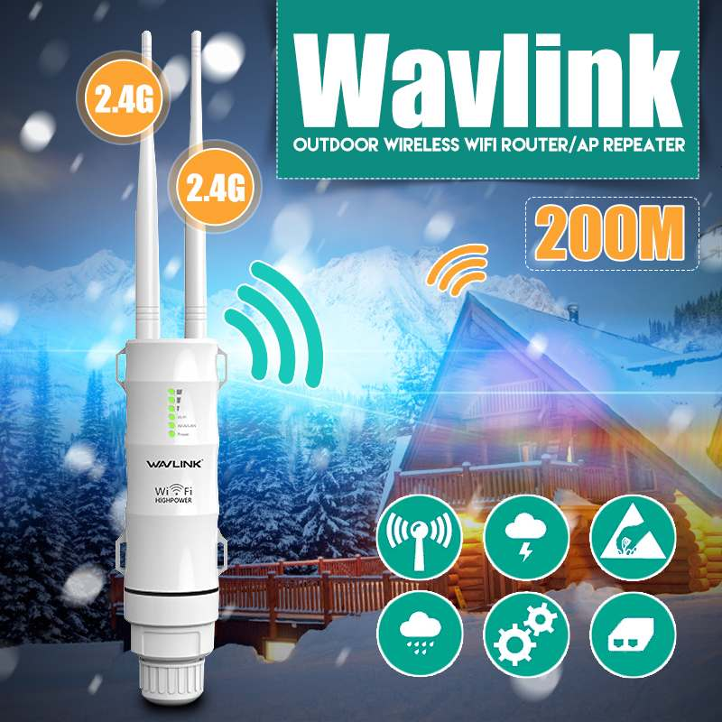 LEORY Wireless Repeater Wifi-Extender Wavlink Outdoor N300 New WN570HN2 3-In-1