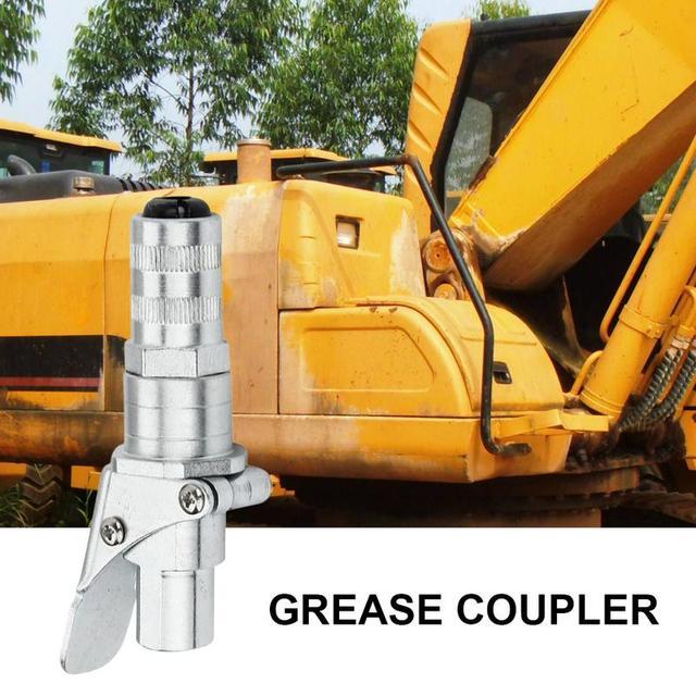 Professional Grease Coupler คีมล็อคแรงดันสูงจาระบีคู่บรรจุหัว Self   Locking จาระบีปาก
