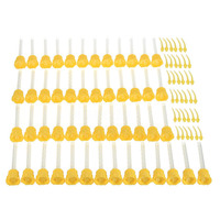 CNIM Hot 50x Dental Impression Tip Temporary 1: 1 Silicone Rubber  50X Yellow Tips+Injection Head Silicone Sealant     -