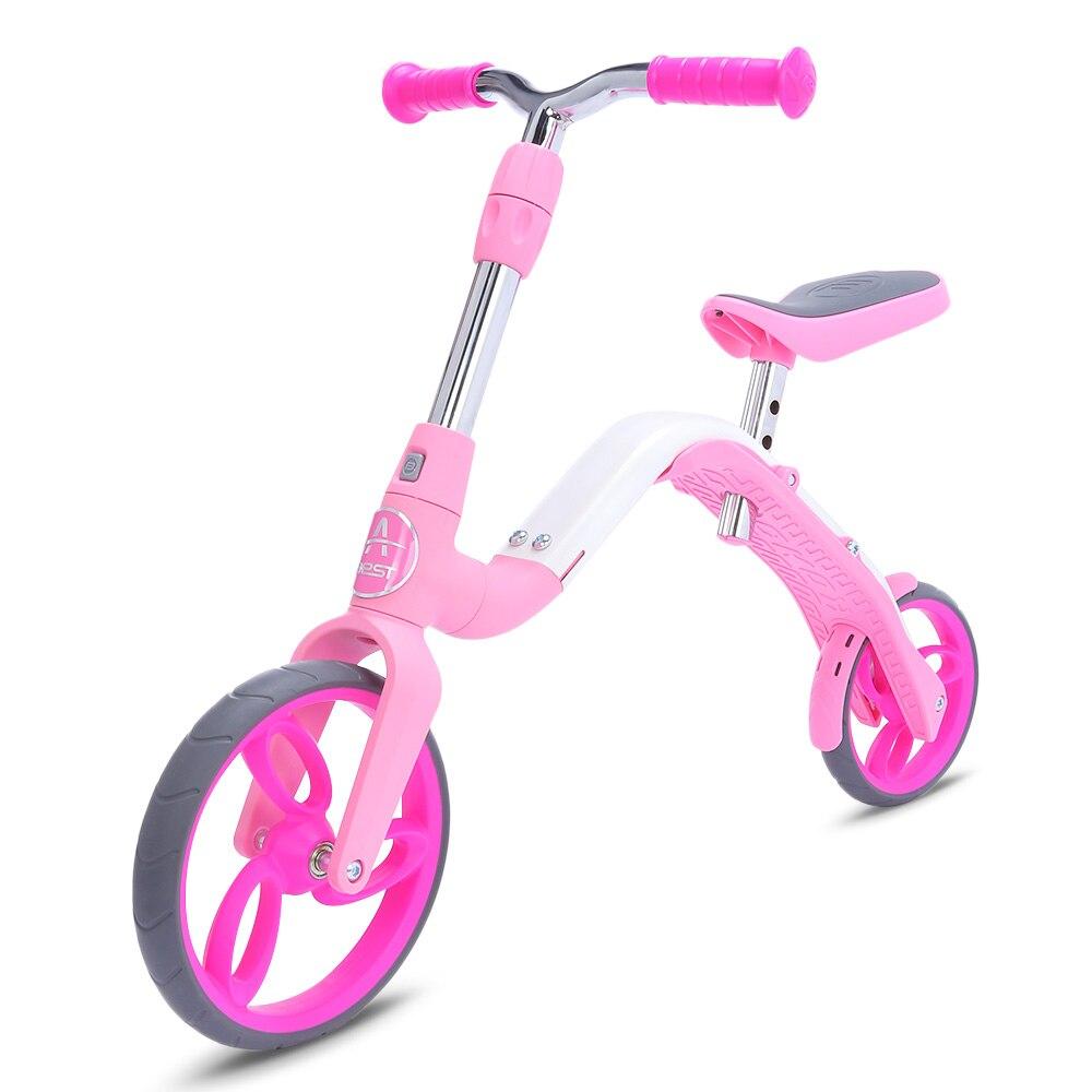 AEST B02 Mini trottinette bébé 3 en 1 vélo d'équilibre monter sur des jouets pour les enfants de 3 à 5 ans grande roue réglable en hauteur jouet sport