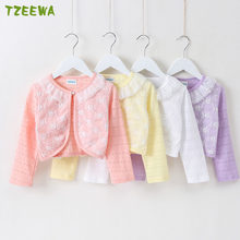 2019 Long Sleeve Girls Coat Spring Autumn Kids Jacket Girls Flower Baby Coat Thin Kids Outerwear Tops Baby Cardigan(China)