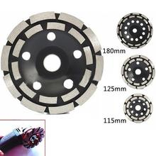 Double Row Diamond Grinding Cup Diamond Segment Wheel Disc 115mm/125mm/180mm Polished Wall Grinding For Grinders High Quality цены онлайн