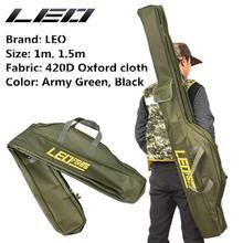 цена на Folding Portable Fishing Bag 1M/1.5M Soft Fishing Gear Tool Bag fishing rod bags 420D Oxford