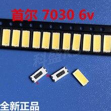 Seul LED aydınlatmalı 1w 7030 6v soğuk beyaz 90 100LM LCD ekran arka ışık TV TV uygulaması STWBX2S0E 1000 adet