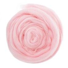 35 г 6 шт белый+ 1 шт Розовый валяния шерсть волокна иглы натуральная шерсть для 3D проектов животных ровинг прядения ткачество Шерстяное волокно