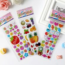 20 sheets Cartoon Subsidies Three-dimensional 3d Sticker Pictures On Match Box Children Diy Gift Comic Hubble-bubble Multi(China)