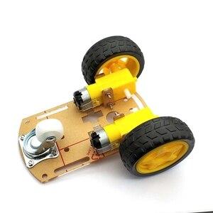 Image 3 - Akıllı Robot araba 2WD Motor şasi/izleme araba kutu kiti hız Encoder pil kutusu ile Arduino Diy kiti için
