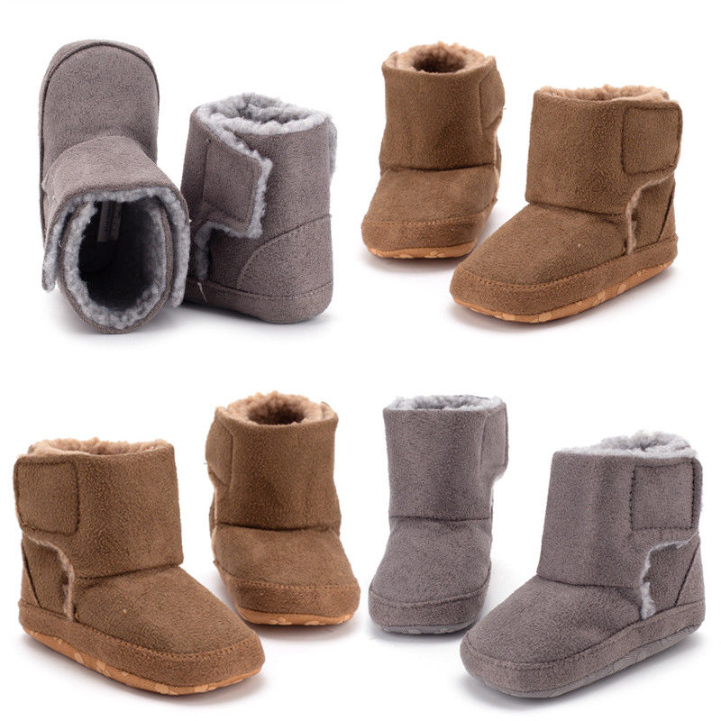 Pudcoco Brand New Winter Baby Boys Girls Solidr Warm Moccasins Snow Boots Soft Sole Shoes 0-18M