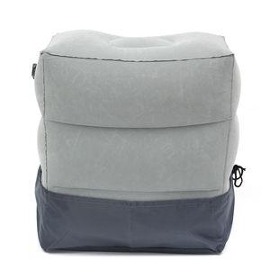 Image 3 - Mais novo quente útil inflável portátil viagem apoio para os pés travesseiro avião trem crianças cama pé resto pad8