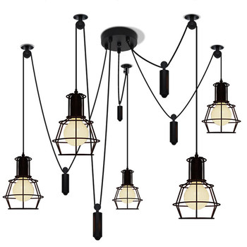 Nordic Vintage Pendant Lighting Lamps Lights for Kitchen Living Room Light Fixtures Village Retro Bedroom Iron Lantern Luminaire