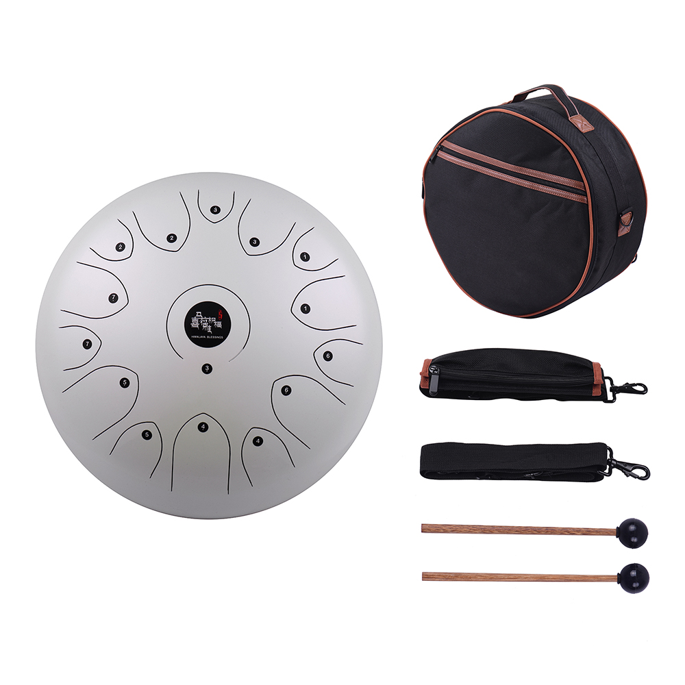 professional 14 inch 15 tone steel tongue drum hand pan drum c key percussion instrument with. Black Bedroom Furniture Sets. Home Design Ideas