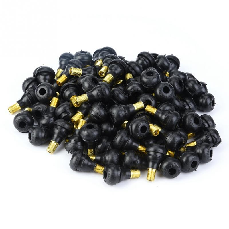 100 PCS Tyre Tire Valves Snap In Tire Tyre Valve Stem Car Motorcycle Universal Replacement Snap in Tire Tyre Valve Stem TR413