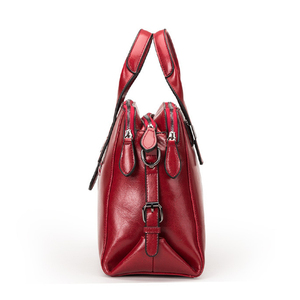 Image 2 - Sacs à Main en cuir véritable femmes, fourre tout de luxe, sacs à épaule avec Double fermeture éclair, Sac de styliste en cuir véritable de vache