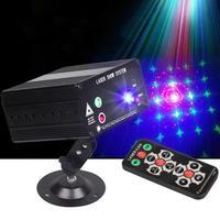 DJ Laser Luz de Palco Full Color 48 Padrões RGB Lâmpada Do Projetor 3 W LEVOU Efeito de Iluminação de Palco para o Disco KTV xmas Decoração Do Partido