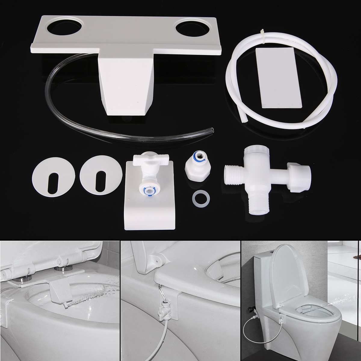цены Mayitr 1set Toilet Bidet Water Spray Seat Non-Electric Toilet Sprayer Nozzle Attachment Hand Operation Bidet Parts New