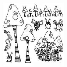 mushroom Transparent Clear Silicone Stamp/Seal for DIY scrapbooking/photo album Decorative clear stamp