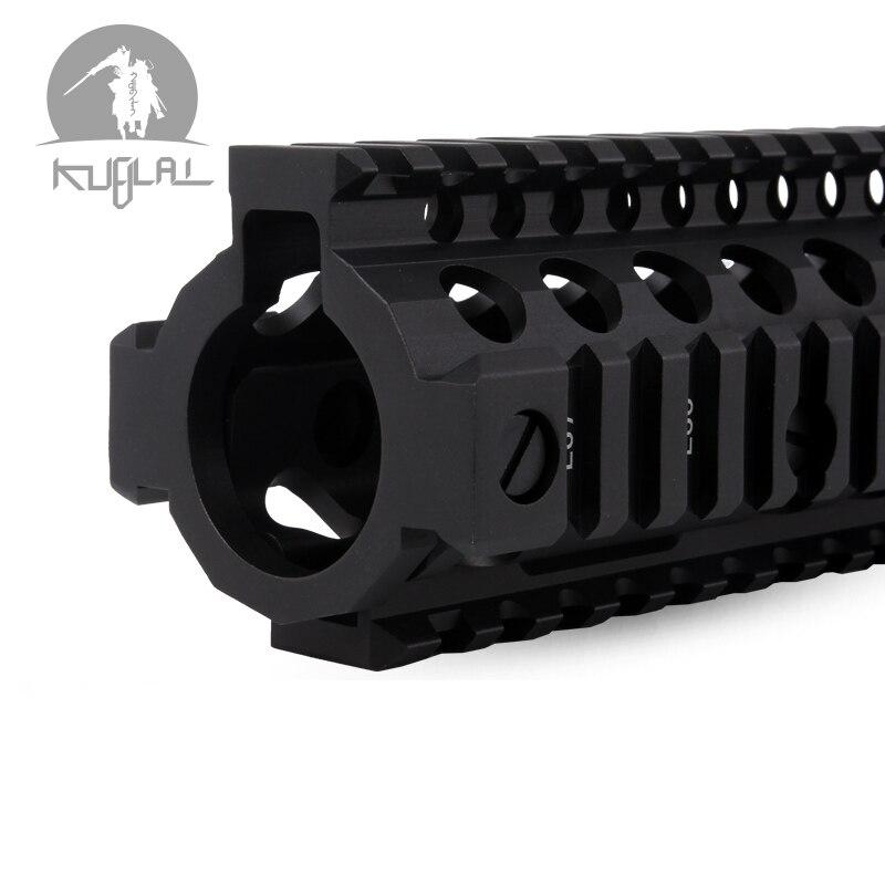 Aluminum Hard Coat Anodized MK18 RISII 7 9 12 Airsoft handguard Black CB Tactical Rail for