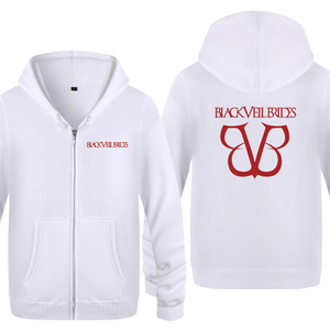 Image 2 - Black Veil Brides Rock Band Hoodies Men 2018 Mens Fleece Zipper Cardigans Hooded Sweatshirts