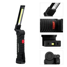Multi-functional COB LED Portable Spotlight Work Lights Torch Folding Emergency Lights Portable led Lantern with Magnetic