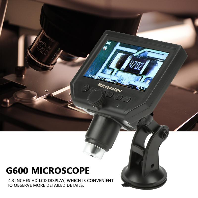 Portable G600 1 600X Magnifier Microscope 1080P LCD Digital Microscope 100 250V WIfi Microscope Camera