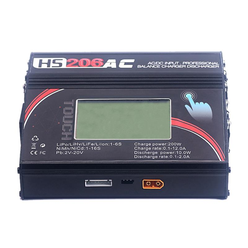 Hs206Ac 200W 12A Ac / Dc High Power Press Screen Banlace Charger Discharger For Lipo Battery Rc Models Toys ChargingHs206Ac 200W 12A Ac / Dc High Power Press Screen Banlace Charger Discharger For Lipo Battery Rc Models Toys Charging