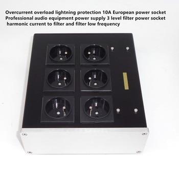 AC8.8 10A Advanced Audio Power Purifier EU AC filter board Overcurrent overload lightning protection European power socket