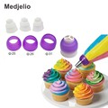 3 Size Pastry Adaptor Cream Cake Tools 3 Color Russia Nozzles Icing Piping Tip Coupler Purple Round Converter Baking Mold