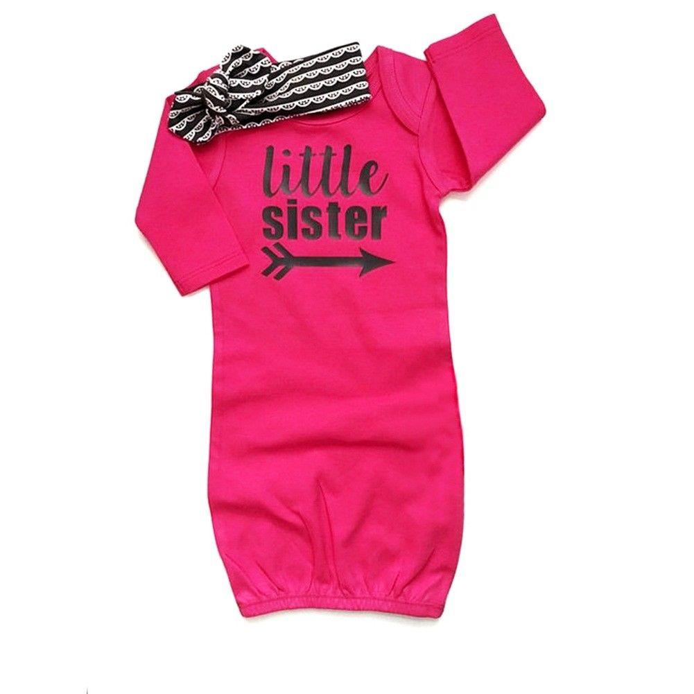 Unparteiisch 2 Stücke Baby Kinder Mädchen Kleine Schwester Langarm Nachtwäsche Nachtwäsche Kleid Nachthemd Nachthemd Kleid
