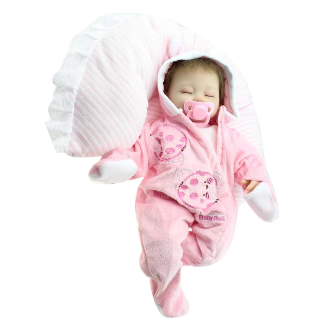 Realistic 2 Baby With Silicone Closed Pink 4Years Clothes Playmate Reborn Gift Unisex Soft Kids Collectibles Doll Eyes