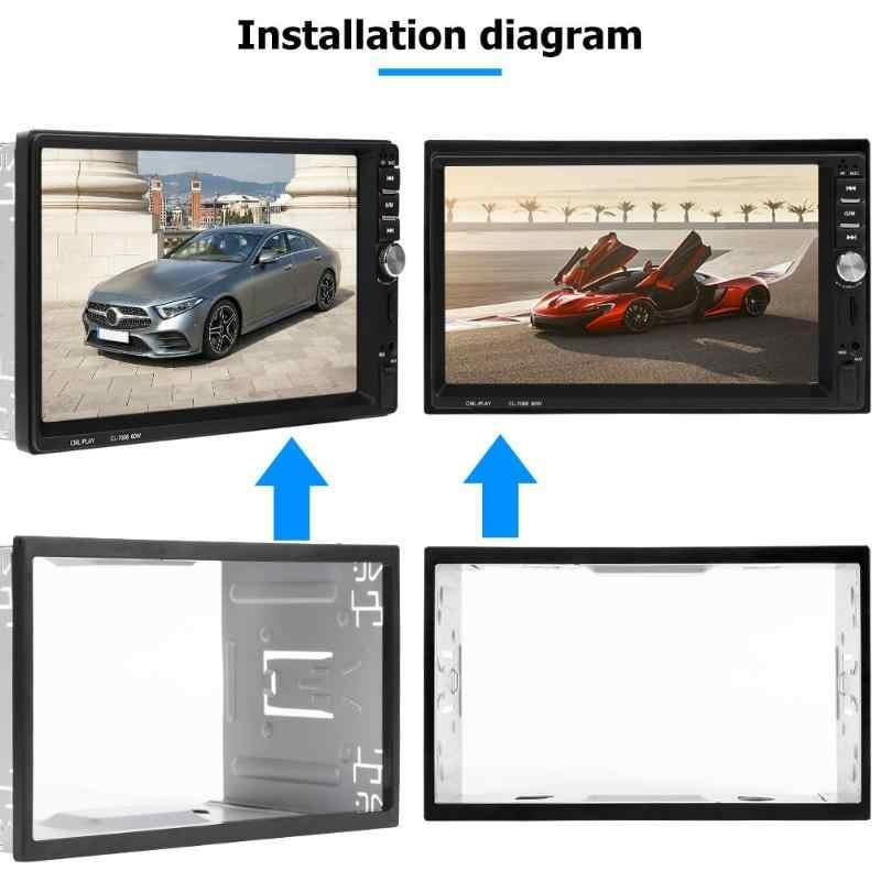 VODOOL 2Din รถกรอบวิทยุ Fascia แผง Dash ติดตั้งชุดสำหรับรถยนต์สเตอริโอเครื่องเล่น DVD ระบบอัจฉริยะอะไหล่