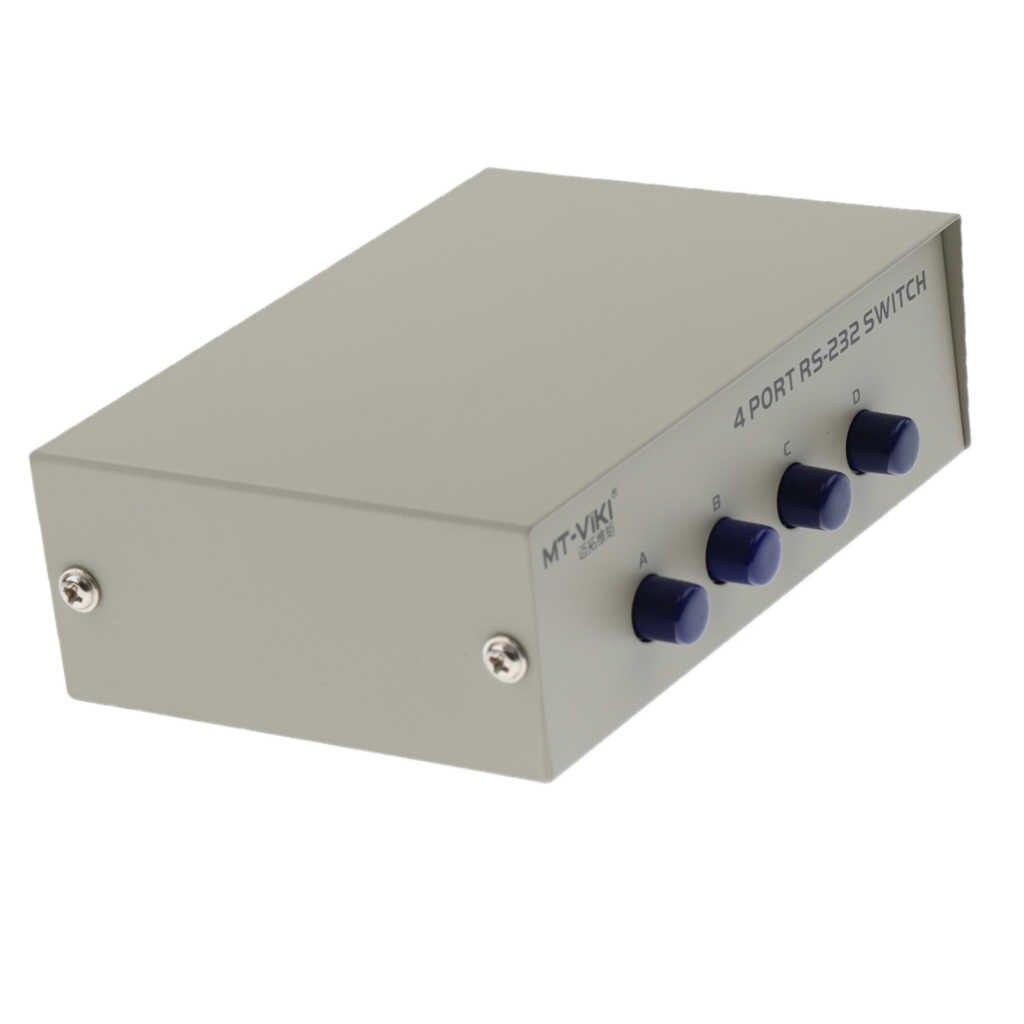 Imprimante DB9 Pin série RS232 boîtier de commutation manuel 4Ports commutateur de partage de données