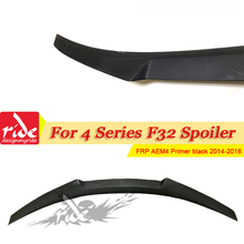 F32 Coupe  Rear Wing Spoiler AEM4 Style FRP Primer for BMW 4-Series F33 F36 F82 420i 428i Tail Trunk Lid Boot Lip 2014+