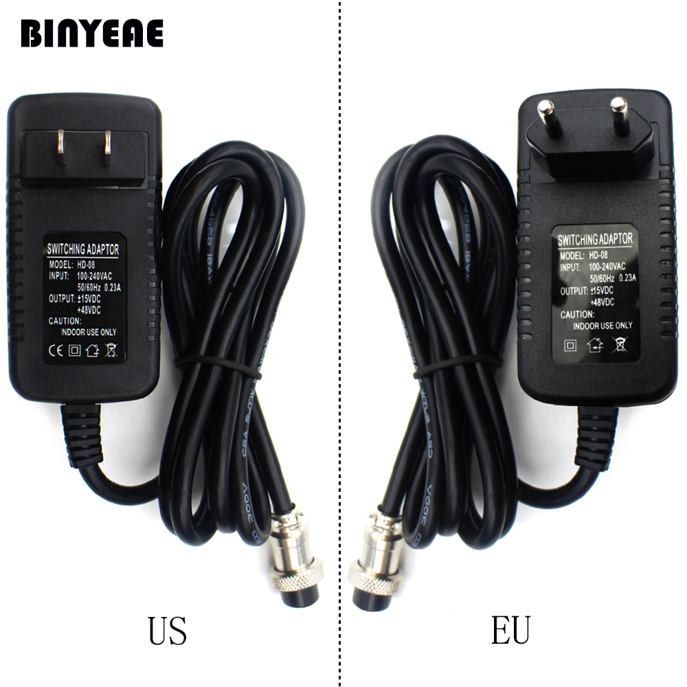 hight resolution of switching power adapter for audio mixer 4 hole to 4 pin plug for
