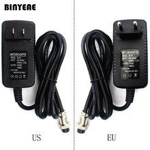 تحويل محول الطاقة ل جهاز مزج الصوت ، 4 حفرة إلى 4 دبوس التوصيل ل الولايات المتحدة 100 120 فولت/الاتحاد الأوروبي 220 ~ 240 فولت ، الناتج 15 ~ 48VDC لنظام الصوت