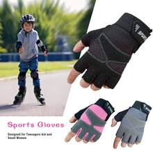 Juvenile Sports Gloves Bike Protective Gym Weightlifting Running Gloves Designed for Teenagers kid and Small Women(China)
